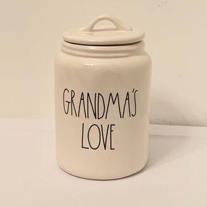 Rae Dunn GRANDMA'S LOVE Canister